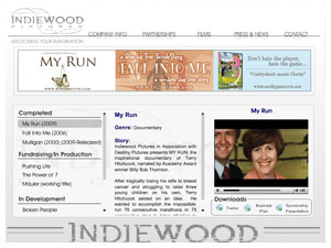 Indiewood Pictures Flash Site